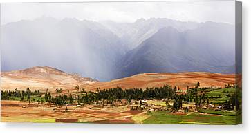 Clouds Over Mountains, Andes Mountains Canvas Print by Panoramic Images