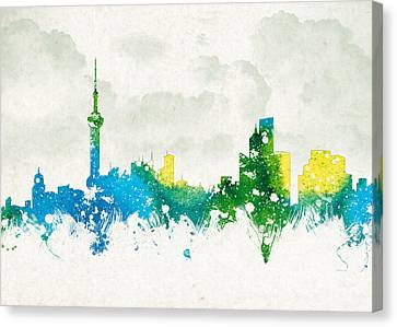 Clouds Over Shanghai China Canvas Print by Aged Pixel