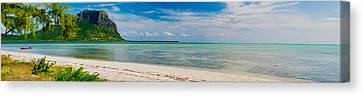 Clouds Over The Indian Ocean, Le Morne Canvas Print by Panoramic Images