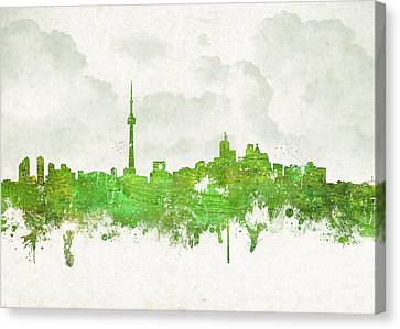 Clouds Over Toronto Canada Canvas Print by Aged Pixel