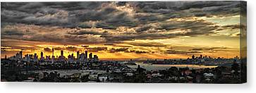 Clouds Rose Over The City Canvas Print by Andrei SKY
