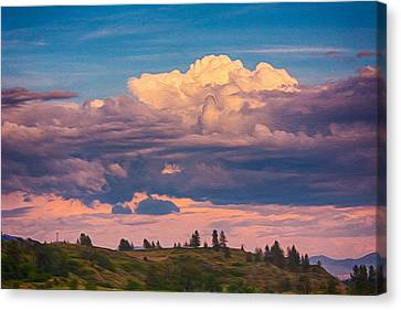 Cloudy Sunset Canvas Print by Omaste Witkowski