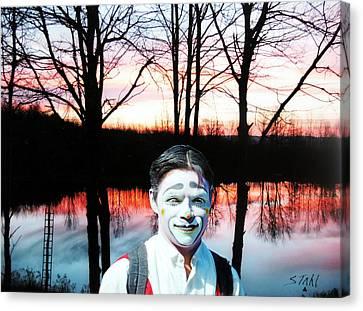 Clown Canvas Print by Dennis Stahl