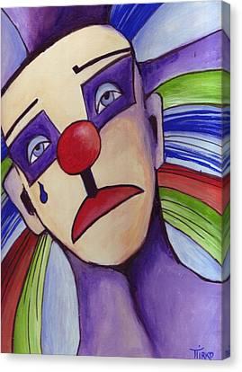 Clown Nez Rouge Canvas Print by Mirko Gallery