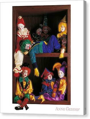 Clowns Canvas Print by Anne Geddes