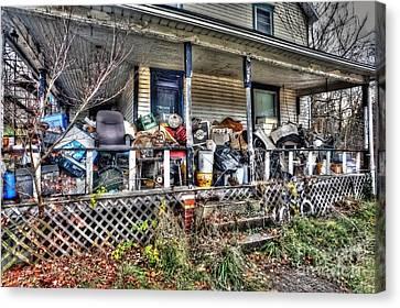 Clutter House Porch  Canvas Print by Dan Friend