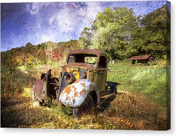 Clyde's Ride Canvas Print by Debra and Dave Vanderlaan