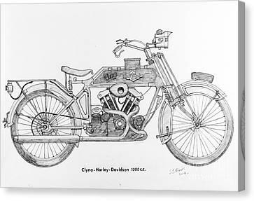 Clyno-harley-davidson Canvas Print by Stephen Brooks