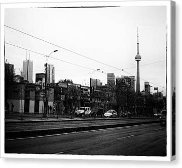 Cn Tower From Spadina Avenue Canvas Print by Tanya Harrison