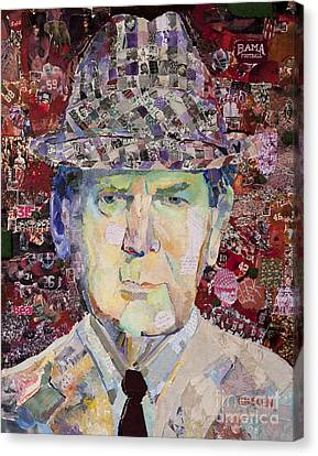Coach Paul Bryant Canvas Print by Alaina Enslen