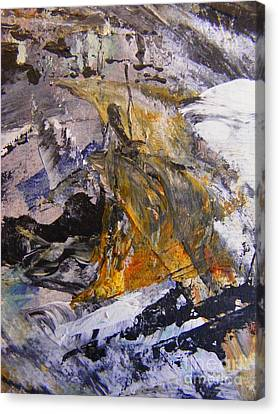 Coal 2 Canvas Print by Nancy Kane Chapman