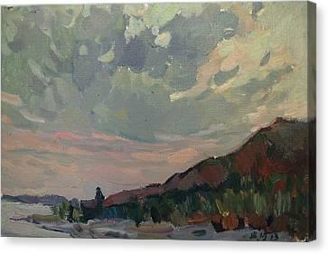 Coast At Sunset Canvas Print by Juliya Zhukova