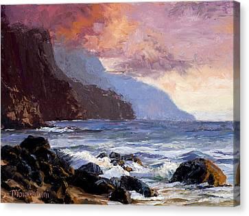 Coastal Cliffs Beckoning Canvas Print by Mary Giacomini