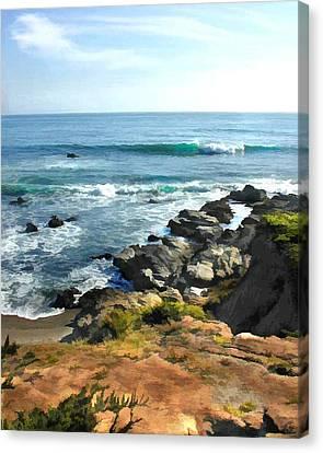 Coastal Edge Canvas Print by Elaine Plesser