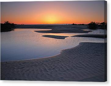 Coastal Ponds At Sunrise II Canvas Print by Steven Ainsworth