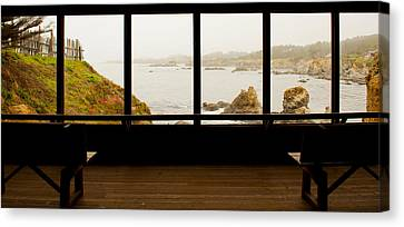 Coastal Viewed From A Shed At Mendocino Canvas Print by Panoramic Images