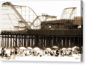 Coaster Ride Canvas Print by John Rizzuto