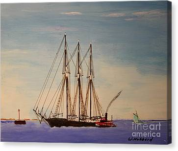 Coasting Schooner Glendon Canvas Print by Bill Hubbard