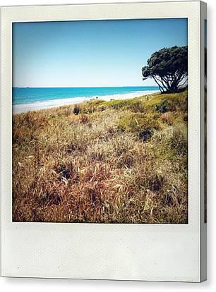 Coastline Canvas Print by Les Cunliffe