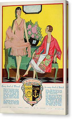 Coats And Clark  1920s Uk Art Deco Canvas Print by The Advertising Archives