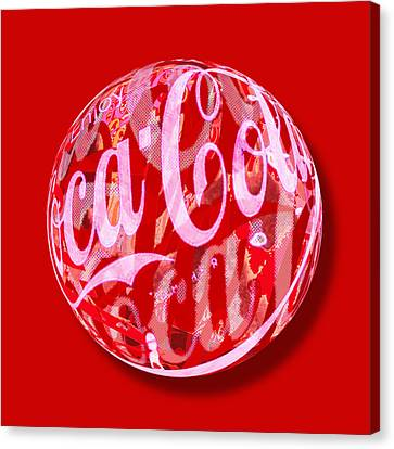 Coca-cola Orb Canvas Print by Tony Rubino