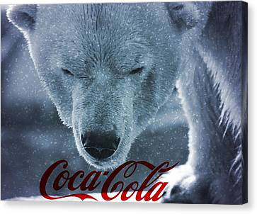 Coca Cola Polar Bear Canvas Print by Dan Sproul
