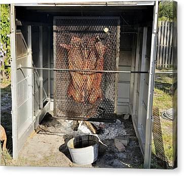 Cochon De Lait -roasting Canvas Print by Bradford Martin
