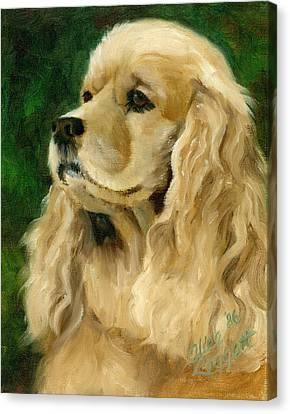 Cocker Spaniel Dog Canvas Print by Alice Leggett