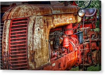 Cockshutt Tractor Canvas Print by Bill Wakeley