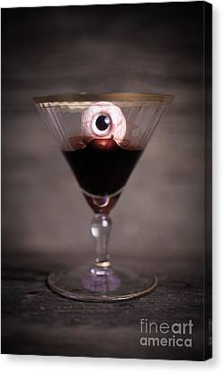 Cocktail For Dracula Canvas Print by Edward Fielding