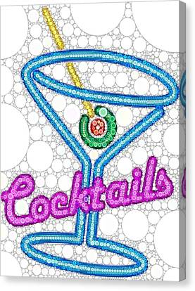Cocktail Sign Canvas Print by Cindy Edwards
