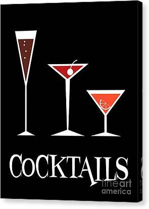 Cocktails Canvas Print by Donna Mibus