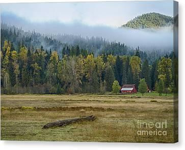 Coeur D Alene River Farm Canvas Print by Idaho Scenic Images Linda Lantzy