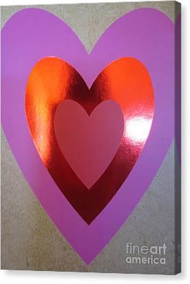 Coeurs De Papier / Paper Hearts Canvas Print by Dominique Fortier