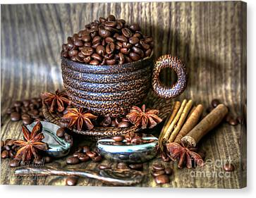 Coffee And Beans Canvas Print by Tracy  Hall