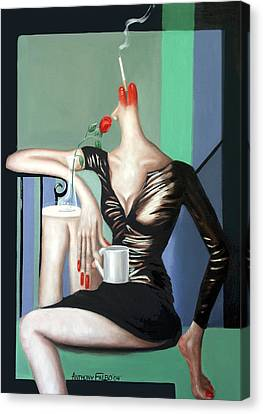 Coffee Break Canvas Print by Anthony Falbo
