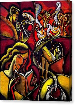 Coffee Break Canvas Print by Leon Zernitsky
