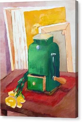 Coffee Grinder Still Life Canvas Print by Lutz Baar