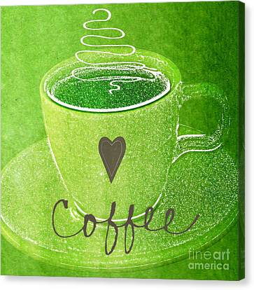 Coffee Canvas Print by Linda Woods