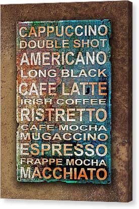 Coffee Canvas Print by Mal Bray