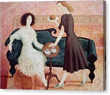 Coffee Morning Canvas Print by Patricia O'Brien