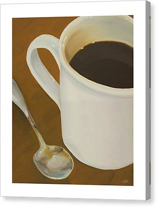 Coffee Mug And Spoon Canvas Print by Craig Tinder