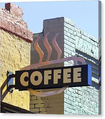 Coffee Shop Canvas Print by Art Block Collections