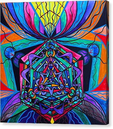 Coherence Canvas Print by Teal Eye  Print Store