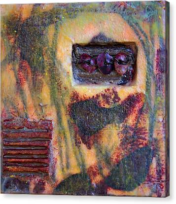 Coin Of The Realm Encaustic Canvas Print by Bellesouth Studio