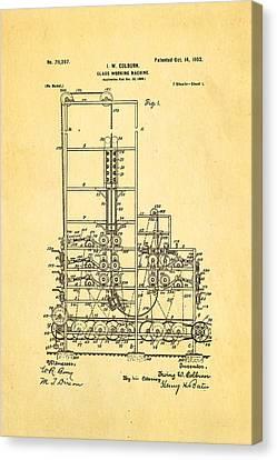 Colburn Flat Glass Working Machine Patent Art 1902 Canvas Print by Ian Monk