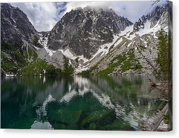 Colchuck Lake Clear Waters Canvas Print by Mike Reid