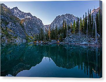 Colchuck Morning Reflection Canvas Print by Mike Reid