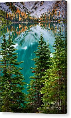 Colchuck Reflection Canvas Print by Inge Johnsson