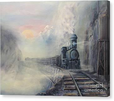 Cold Blue Steel Canvas Print by Wayne Enslow